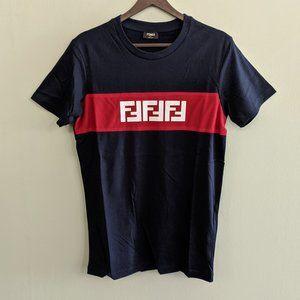 Fendi Roma Navy Blue Color T-Shirt